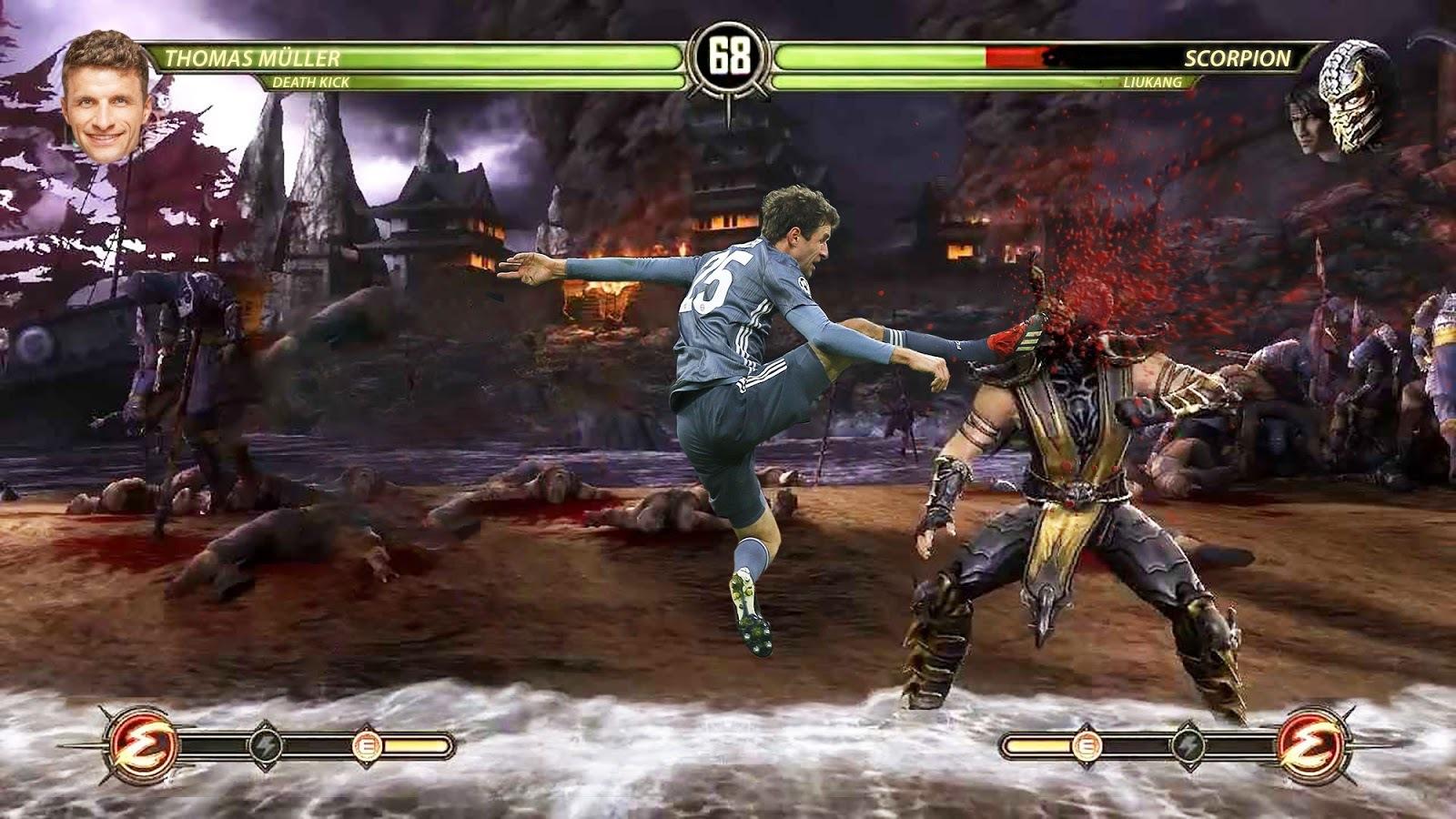 Mortal Kombat 11 Postillon Nimmt Thomas Müller Auf Den Arm