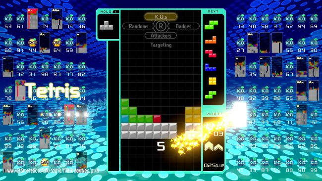 Team Battle in Tetris 99