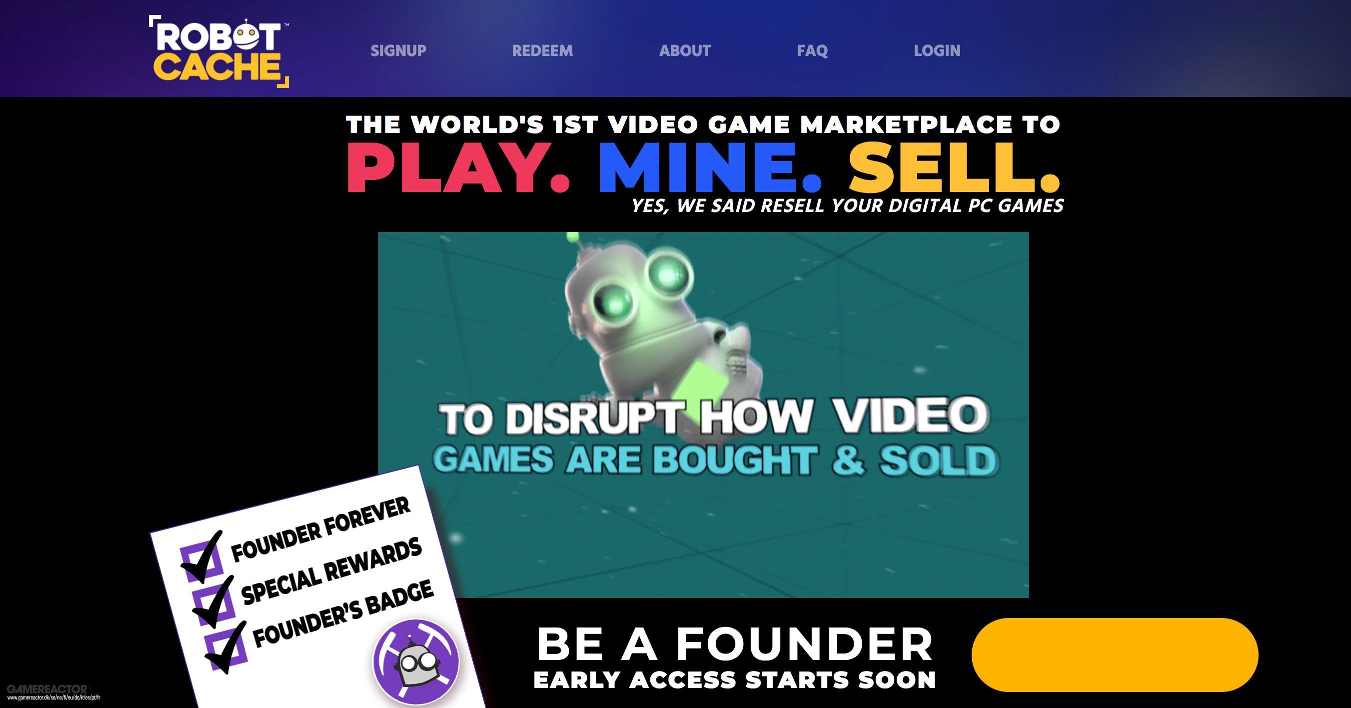 Digital Gekaufte Pc Games Via Robot Cache Weiterverkaufen