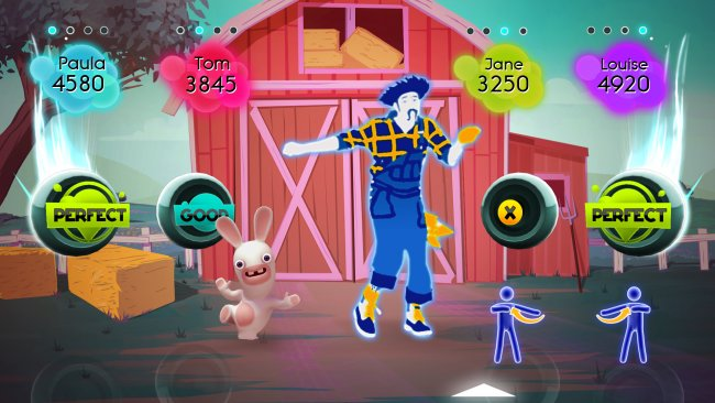 Rabbids tanzen in just dance 2