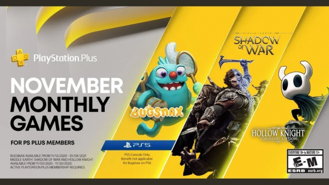 PlayStation Plus: November-Titel enthüllt