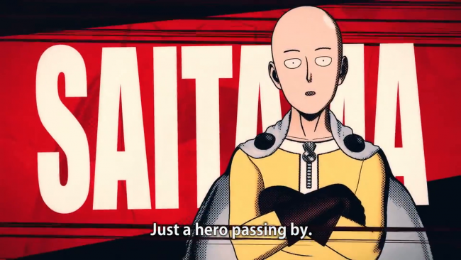Schlagfertiges Anime-Intro zu One Punch Man: A Hero Nobody Knows
