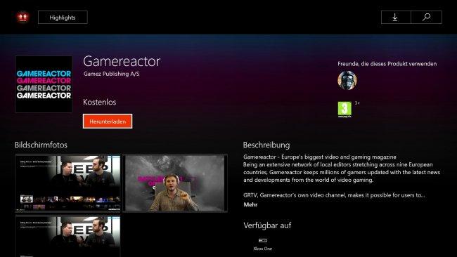 gamereactor jetzt auch auf deiner xbox one als app gamereactor. Black Bedroom Furniture Sets. Home Design Ideas