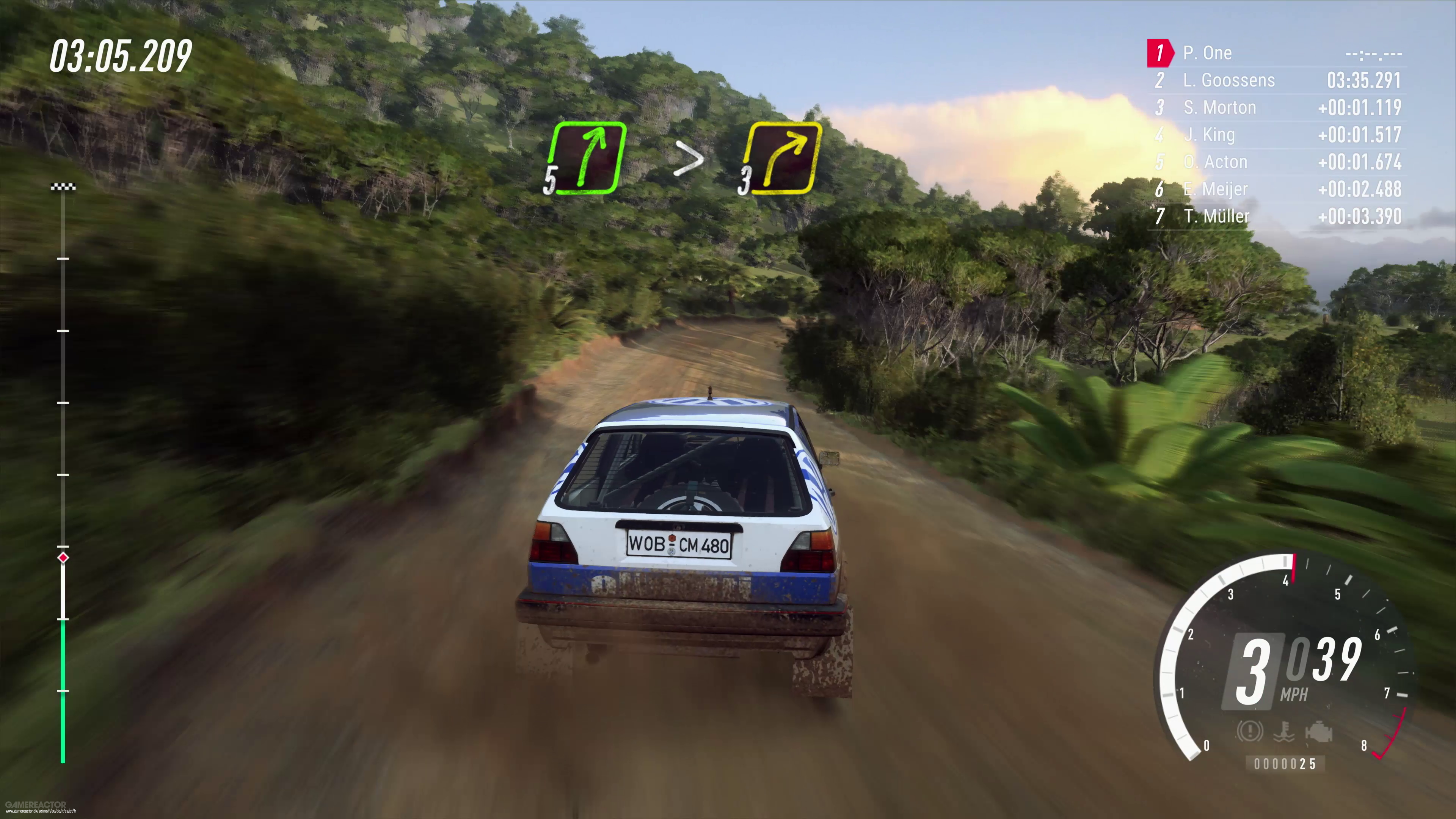 exklusives gameplay vom golf gti ii in dirt rally 2 0. Black Bedroom Furniture Sets. Home Design Ideas