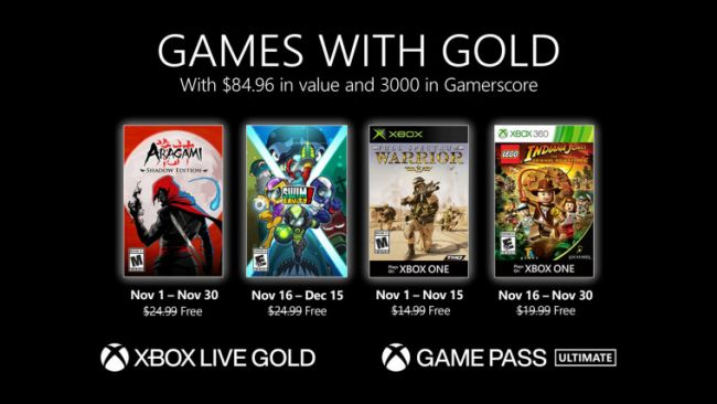 Games with Gold: Das November-Lineup