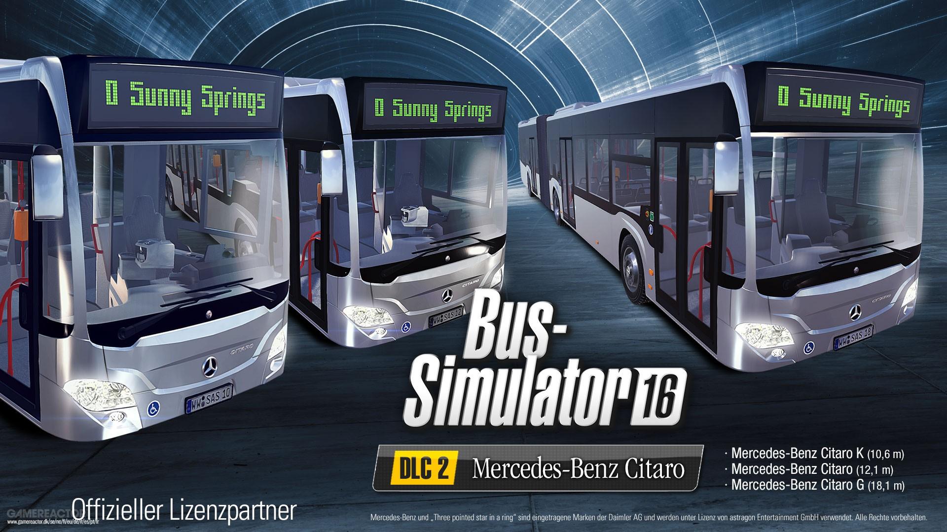 mercedes benz citaro dlc f r bus simulator 16 online. Black Bedroom Furniture Sets. Home Design Ideas