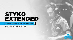 Cloud9 will be keeping Styko in their team for a bit longer