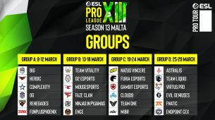 The groups for the ESL Pro League Season 13 are set