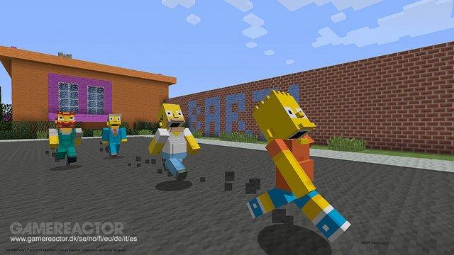 Bilder Zu Simpsons Spielen Auch Auf PS In Minecraft Mit - Minecraft spiele ps4
