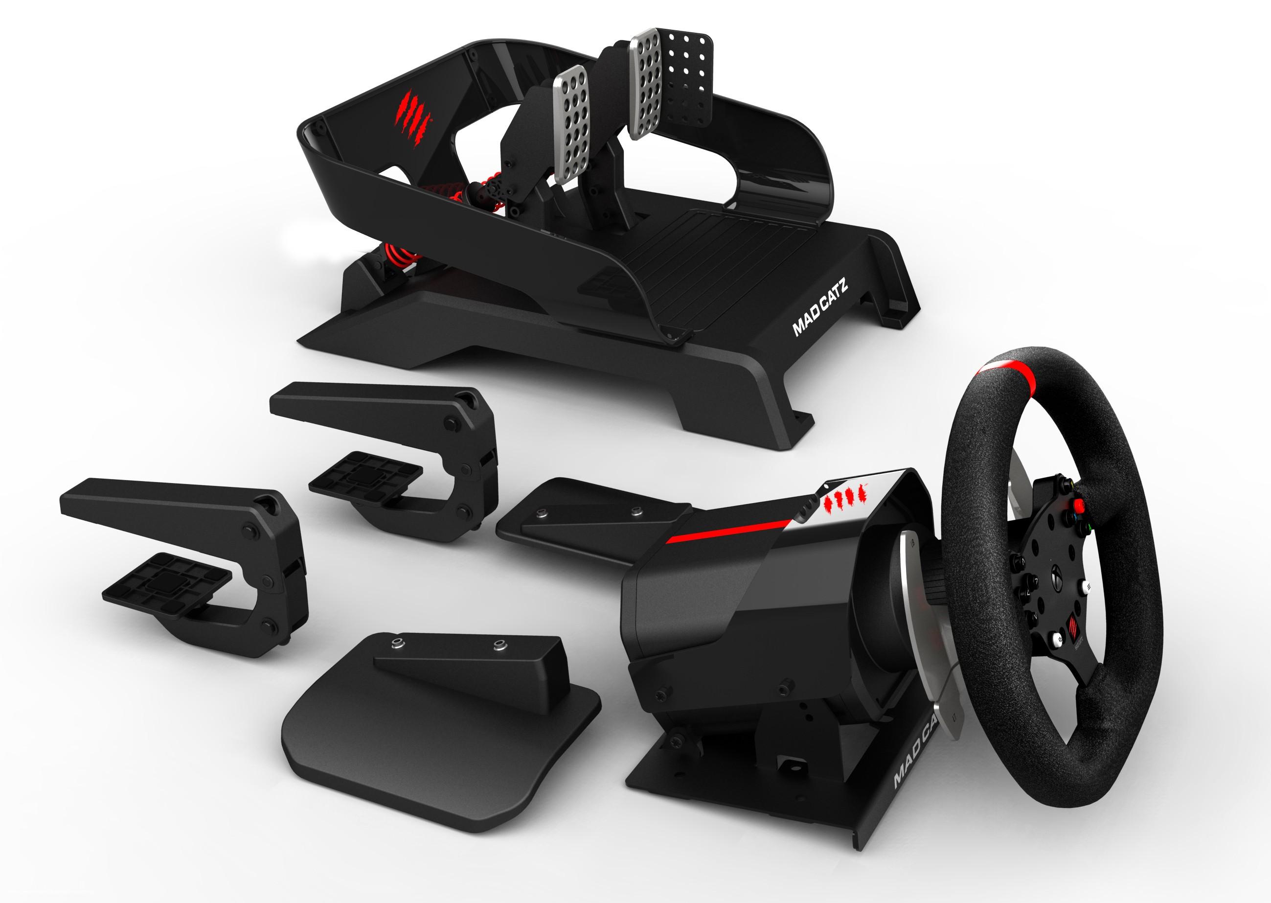 bilder zu force feedback lenkrad von matz catz f r xbox. Black Bedroom Furniture Sets. Home Design Ideas