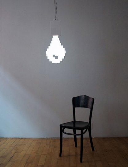 eine 2d pixel gl hbirnen lampe blog von christian gaca gamereactor. Black Bedroom Furniture Sets. Home Design Ideas