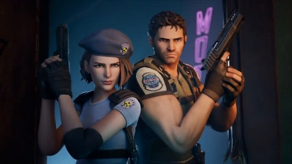 S.T.A.R.S. Members Chris Redfield and Jill Valentine Arrive On The Fortnite Island