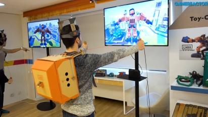 Nintendo Labo: Robot Kit - Anziehen des Robot Toy-Con-Anzugs und Gameplay