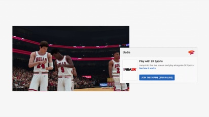 Stadia - Crowd Play Feature - NBA 2K19 Example