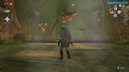 The Legend of Zelda: Twilight Princess HD - Gameplay - Bosskampf im Waldschrein gegen Plantainferna
