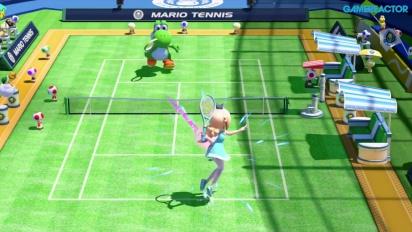 Mario Tennis: Ultra Smash - Gameplay - Mega-Kampf mit Rosalina vs. Yoshi