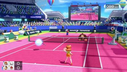 Mario Tennis: Ultra Smash - Gameplay - Klassisch mit Daisy & Buu Huu vs. Donkey Kong & Mario