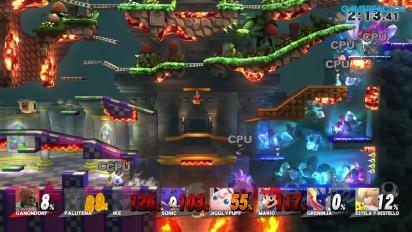 Super Smash Bros. für Wii U - Gameplay - 8-Spieler Smash: Das Höhlen-Abenteuer