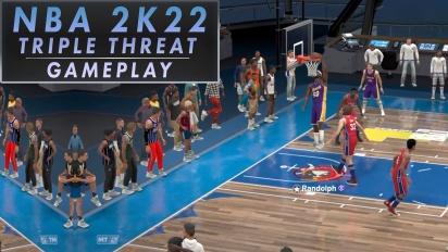 NBA 2K22 - Ein Match Triple Threat (Gameplay)