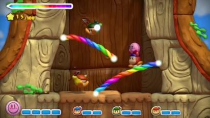 Wii U - Kirby and the Rainbow Curse Rainbows! - Trailer