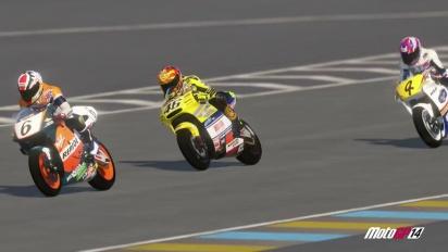 MotoGP 14 - Rosi at Le Mans Champions gameplay trailer