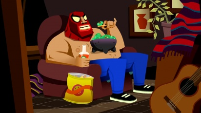 Guacamelee! 2 - Shirtless Arachnid Person Costume