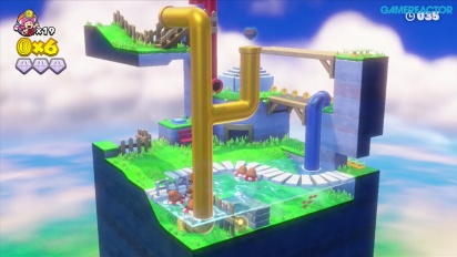 Captain Toad: Treasure Tracker - Gameplay - Mission 2-5: Floaty Fun Water Park