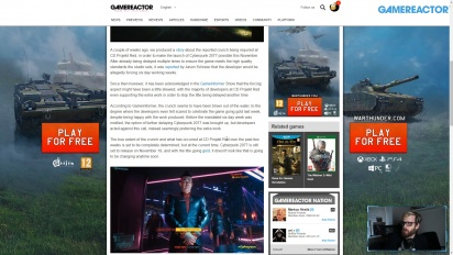 GRTV News - CD Projekt Red kündigt Crunch in Cyberpunk 2077 an
