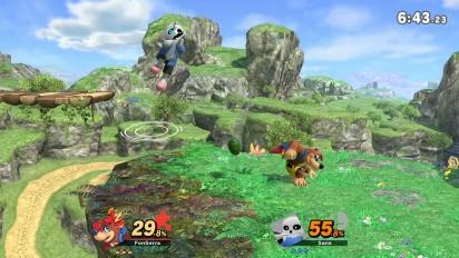 Super Smash Bros. Ultimate - Banjo & Kazooie gegen Sans (Gameplay)