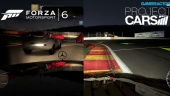 Forza Motorsport 6 vs Project CARS Comparison Gameplay: Night Spa-Francorchamps
