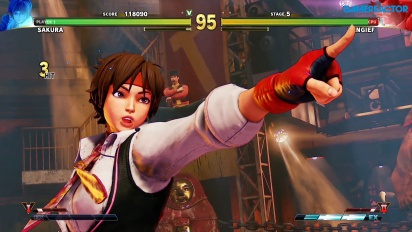 Street Fighter V: Arcade Edition - SF Alpha-Pfad: Sakura vs. Zangief