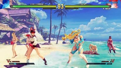 Street Fighter V: Arcade Edition - SF Alpha-Pfad: Sakura vs. R. Mika