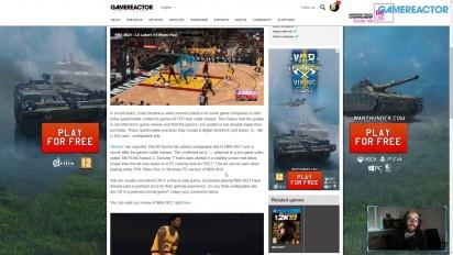 GRTV News - Werbung in NBA 2K21