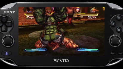 Street Fighter X Tekken - PS Vita Street Fighter Characters Gameplay