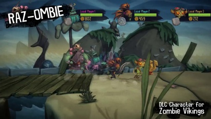 Zombie Vikings - Raz from Psychonauts DLC Trailer
