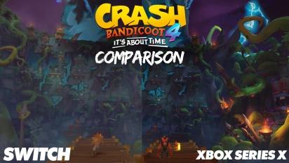 Crash Bandicoot 4 - Vergleich zwischen Xbox One/Series und Nintendo Switch