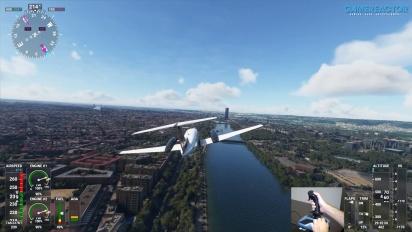 Microsoft Flight Simulator - Flug über Seville mit dem Thrustmaster TCA Sidestick Airbus Edition