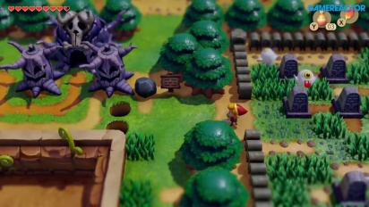 The Legend of Zelda: Link's Awakening - Gameplay aus der Oberwelt