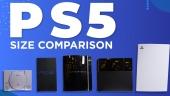 PS 5 im Größenvergleich mit vorherigen PlayStations
