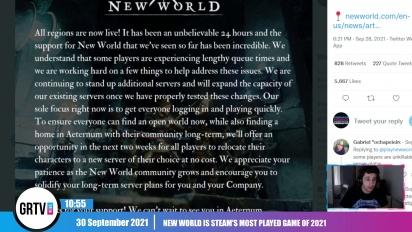 GRTV News - Wir sprechen mit euch über die unglaubliche Erfolgsgeschichte von Amazons MMO New World