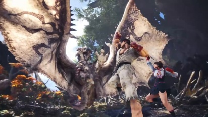 Monster Hunter World - Sakura and Ryu Street Fighter V: AE Collaboration