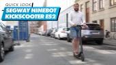 The Ninebot von Segway KickScooter ES2: Quick Look
