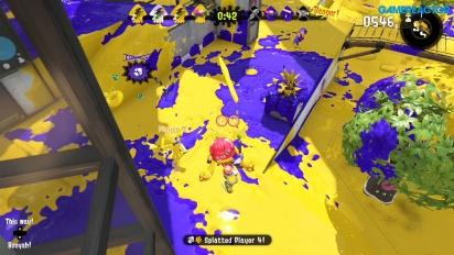 Splatoon 2 - Turf War - Yellow team blasts in this gameplay footage