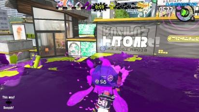 Splatoon 2 - Turf War - Purple team blasts in this gameplay footage