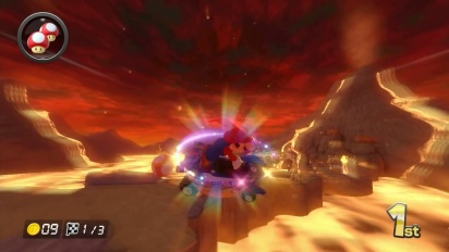 Mario Kart 8 - 200cc Grumble Volcano Gameplay