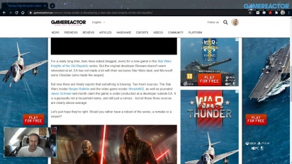 GRTV News - Gerücht: Nicht-EA-Studio arbeitet an Star Wars: Knights of the Old Republic