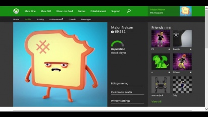 Xbox One - Xbox One Profile coming to Xbox.com