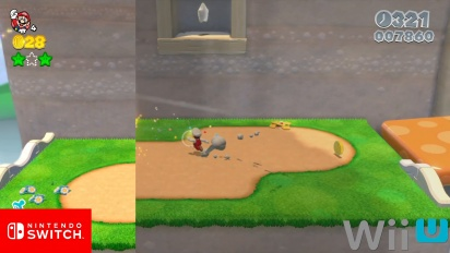 Super Mario 3D World - Grafikvergleich Nintendo Switch vs. Wii U