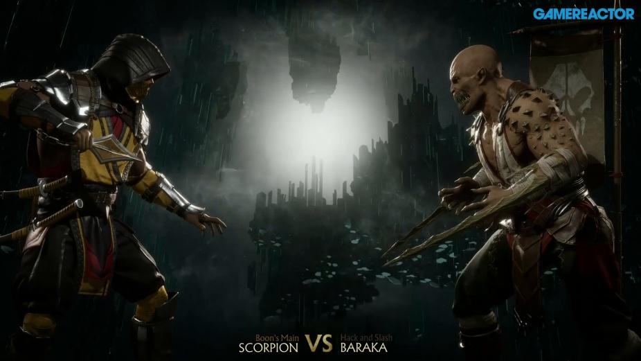 Mortal Kombat 11 Scorpion Vs Baraka Reveal Event Gameplay