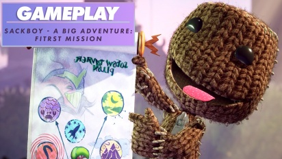 Sackboy: A Big Adventure - Erstes Level (Gameplay)